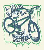 T-shirt Graphics. Extreme bike street style design
