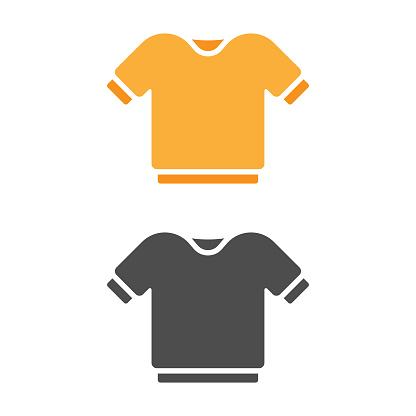 T-Shirt Icon Flat Design.