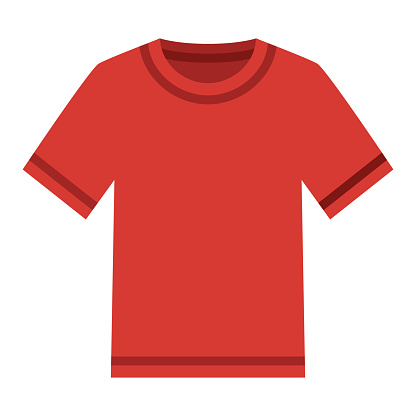T-Shirt Icon on Transparent Background