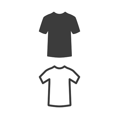 T-shirt icon on white background.