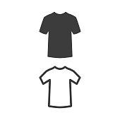T-shirt icon on white background. Vector Illustration