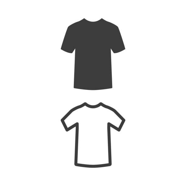 stockillustraties, clipart, cartoons en iconen met t-shirt icoon op witte achtergrond. - t shirt