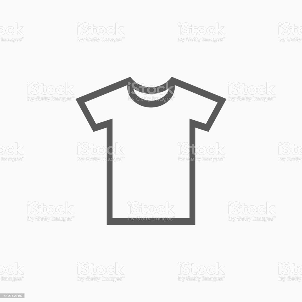 T-shirt icon vector art illustration