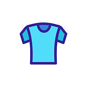 T-shirt icon vector. Thin line sign. Isolated contour symbol illustration