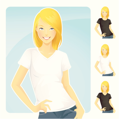 T-Shirt & Jeans Blond Woman