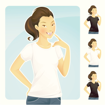 T-Shirt & Jeans (Asian Female)