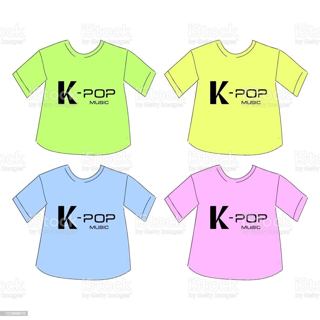 Tshirt Kpop Music Print Stock Illustration Download Image Now