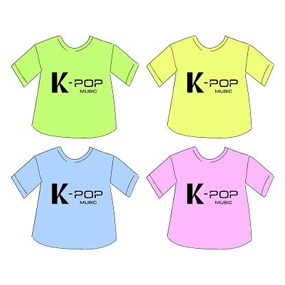 T-shirt k-pop music print