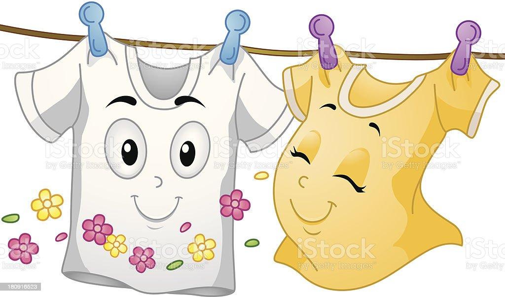T-shirt Mascots royalty-free stock vector art