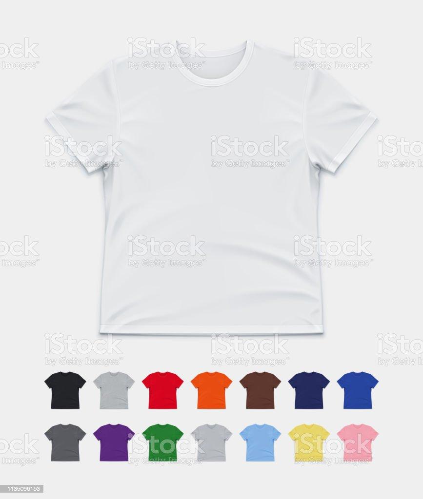 Tshirt Mockup Stock Illustration Download Image Now Istock