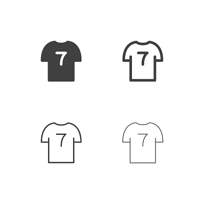 T-Shirt Number 7 Icons - Multi Series