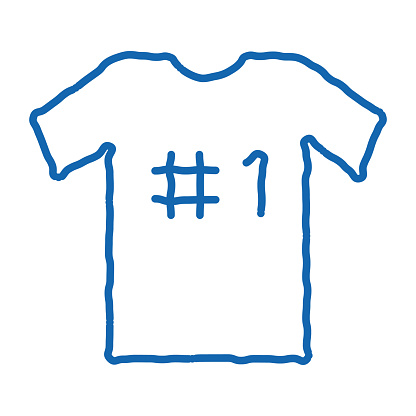 T-shirt Number doodle icon hand drawn illustration