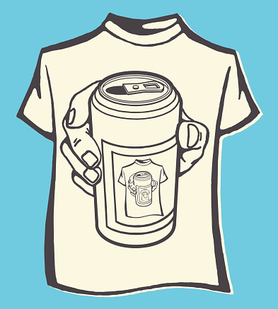 T-Shirt of Beer Can