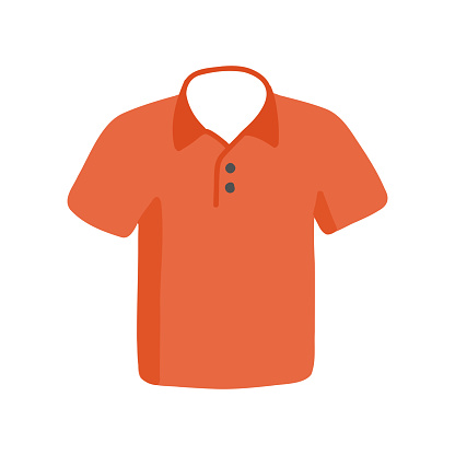 T-Shirt Polo Cartoon Style Icon. Colorful Symbol Vector Illustration