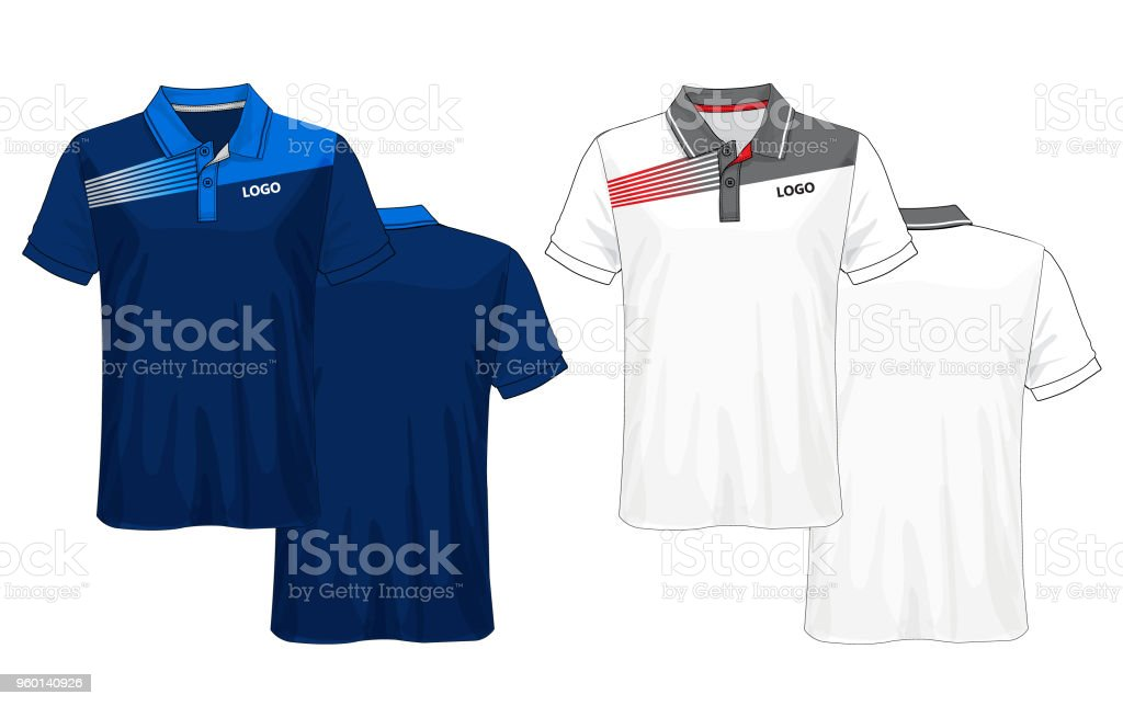 T-shirt polo design,Blue and white layout sport jersey template.