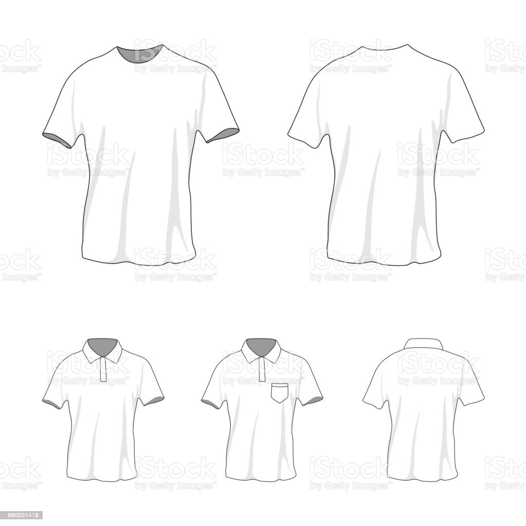 Polo T Shirt Template Front Back