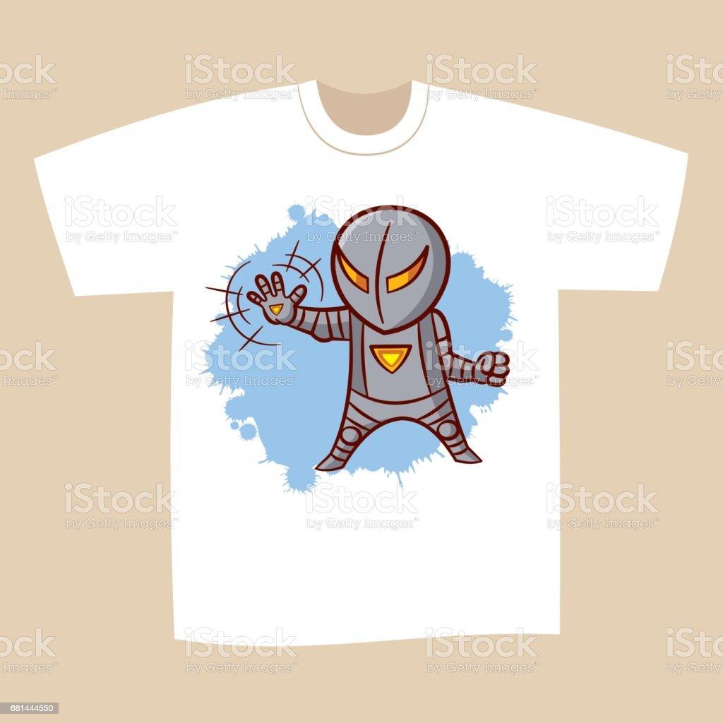 e4204c8d T-shirt Print Design Superhero royalty-free tshirt print design superhero  stock vector art