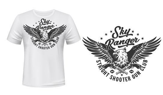 T-shirt print template, Eagle shooters club