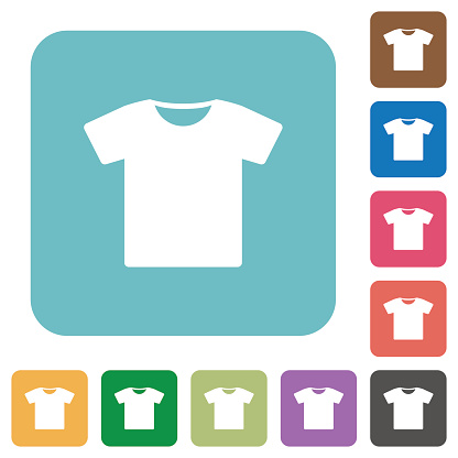T-shirt rounded square flat icons