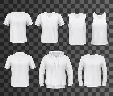T-shirt, shirt, polo and sweatshirt template