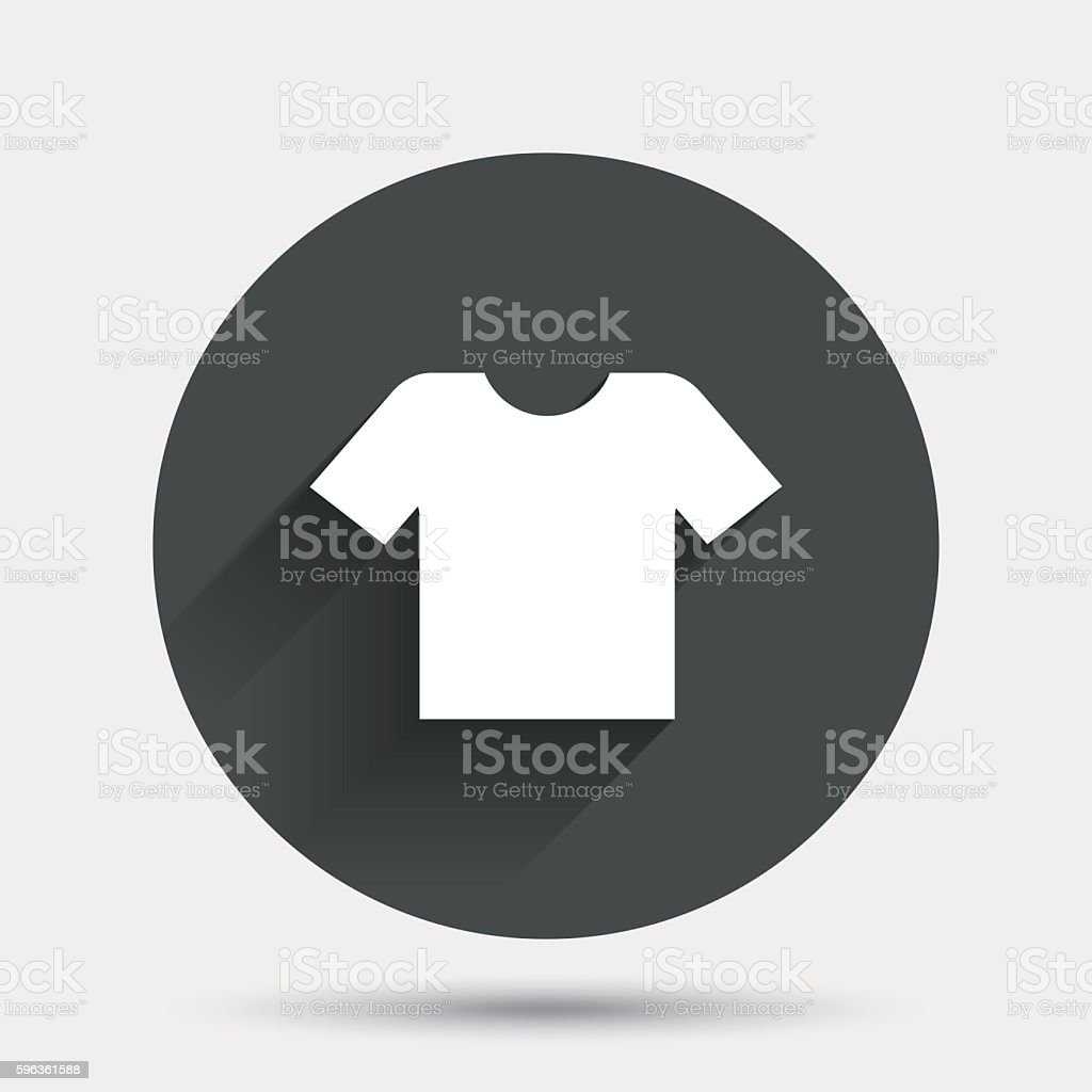 T-shirt sign icon. Clothes symbol. royalty-free tshirt sign icon clothes symbol stock vector art & more images of badge