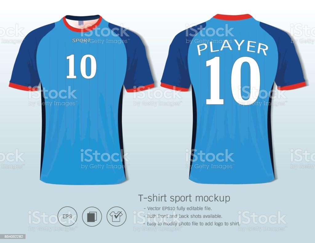 a2722d4121 Ilustração de Design De Camiseta Esporte Clube De Futebol Na Parte ...