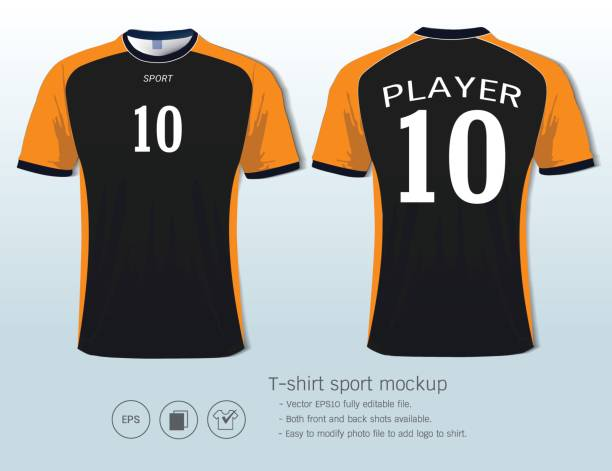 tshirt sport design for football club front and back view soccer