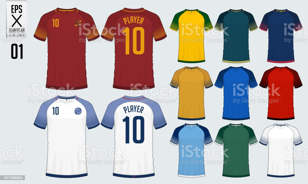 bdf412ecf T-shirt sport design for soccer jersey or football kit template. Football t-