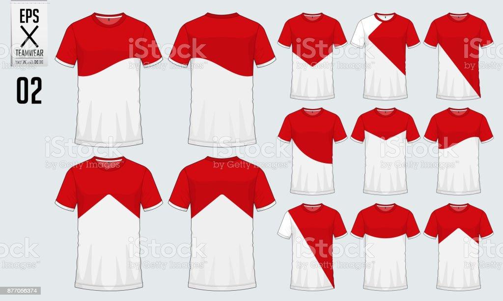 T Shirt Sport Design For Soccer Jersey Or Football Kit Template