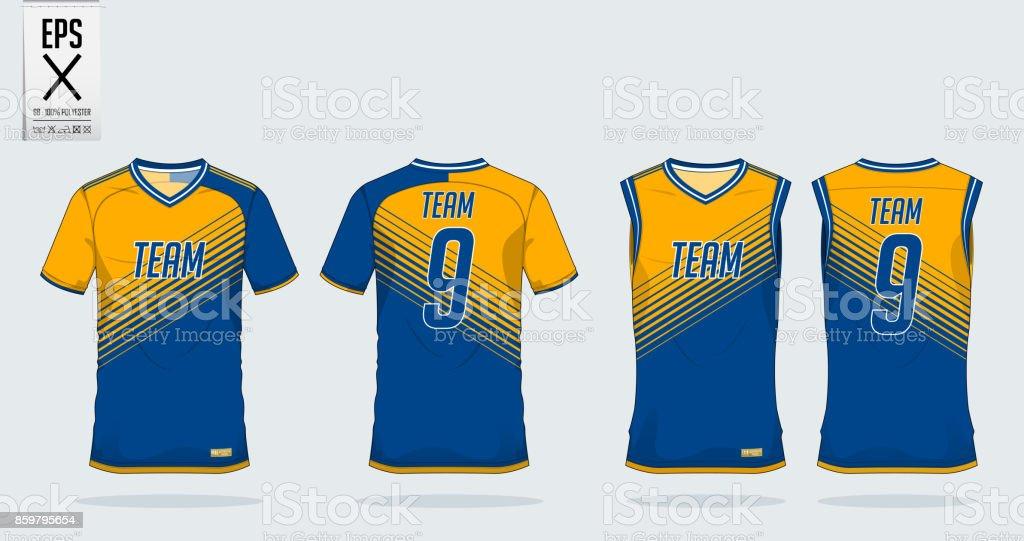 Ilustración de Plantilla De Diseño De Deporte Camiseta De Fútbol ... a377794174bf3