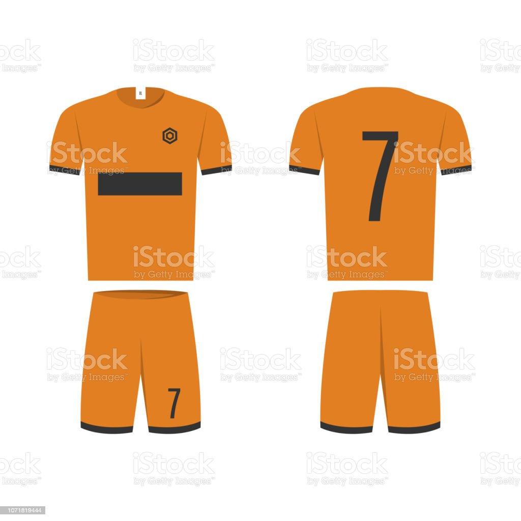3e50ba338 Tshirt Sport Design Template For Soccer Jersey Vector Illustration ...