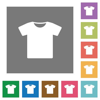 T-shirt square flat icons