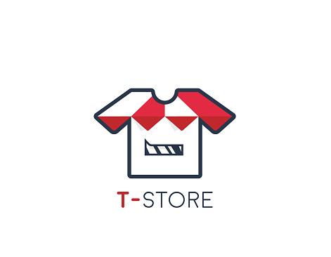T-shirt store design - illustration
