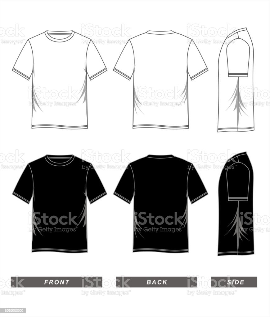 t-shirt template black white vector art illustration