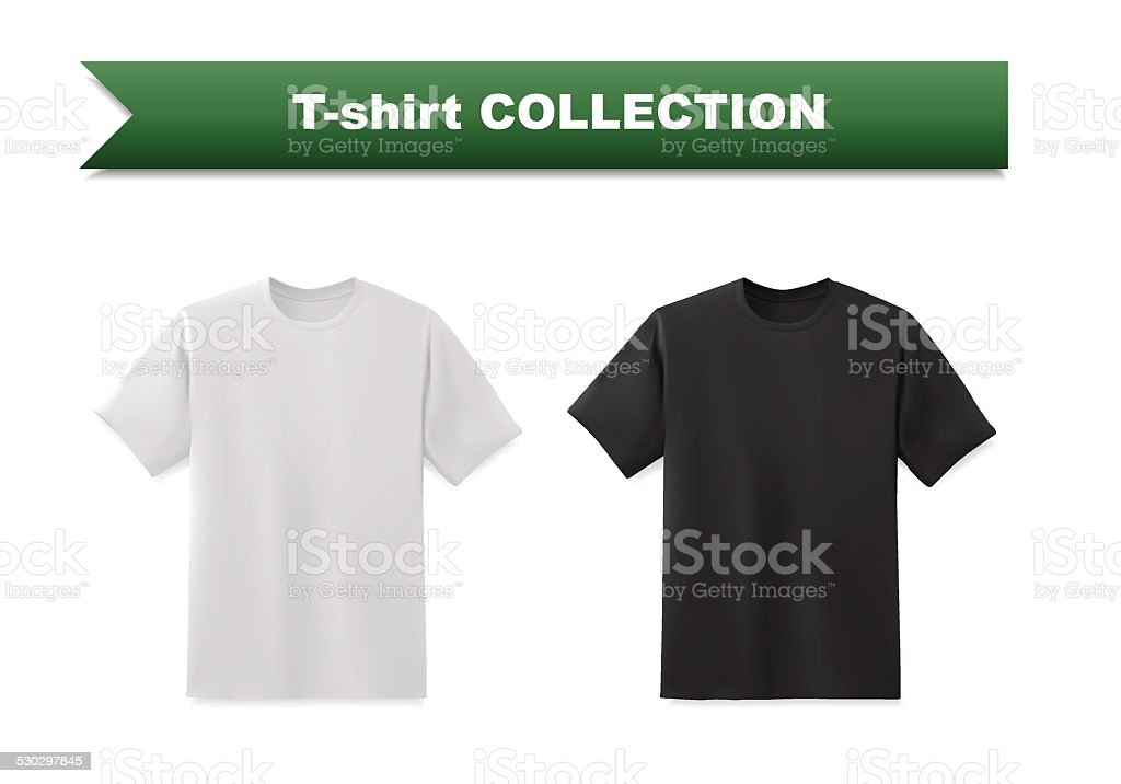 T-shirt template collection vector art illustration