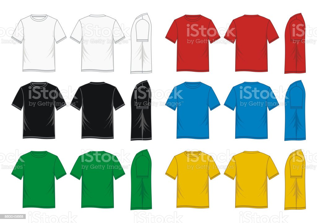 T-Shirt template colorful vector art illustration