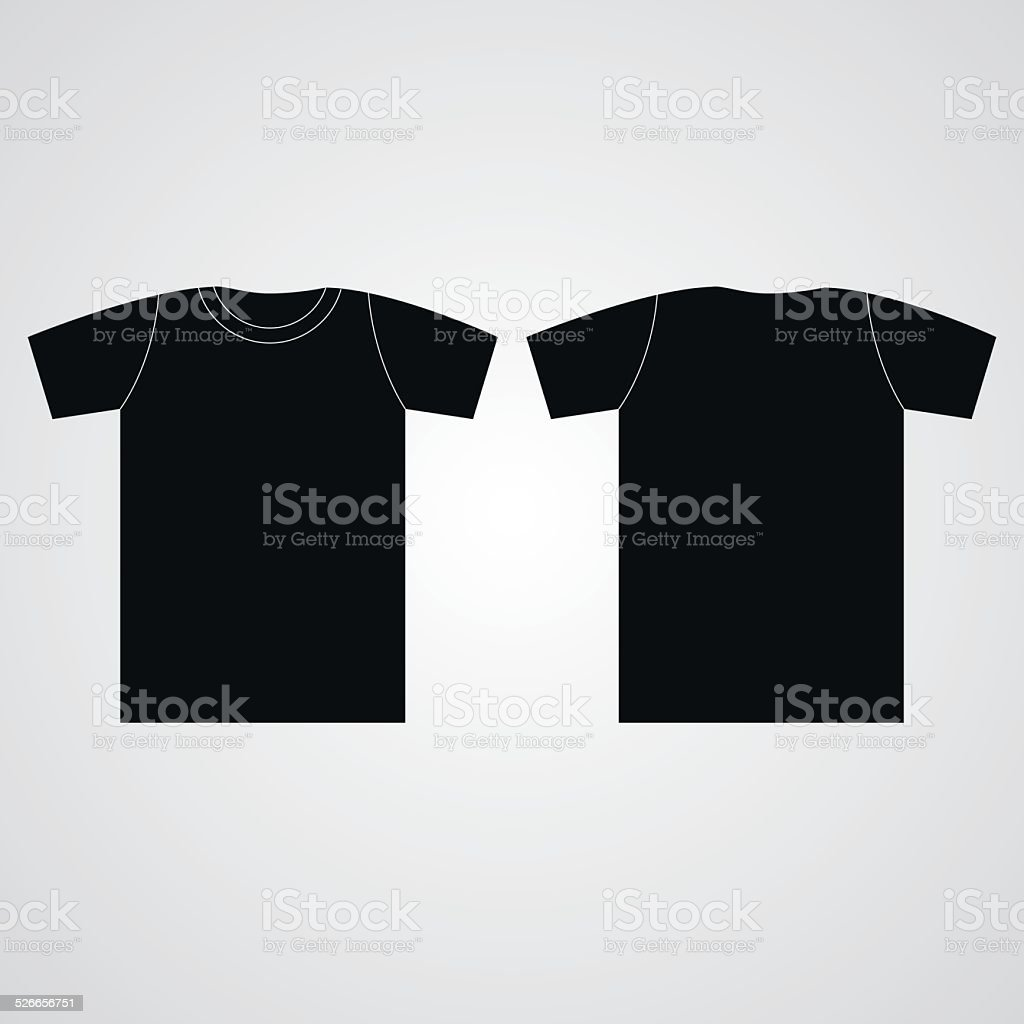 T-shirt template Front and back vector art illustration