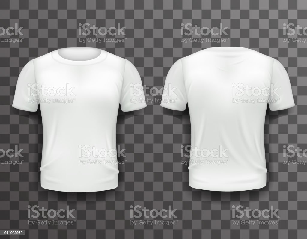 tshirt template front back realistic 3d design icon transparent stock vector art 614025932 istock. Black Bedroom Furniture Sets. Home Design Ideas
