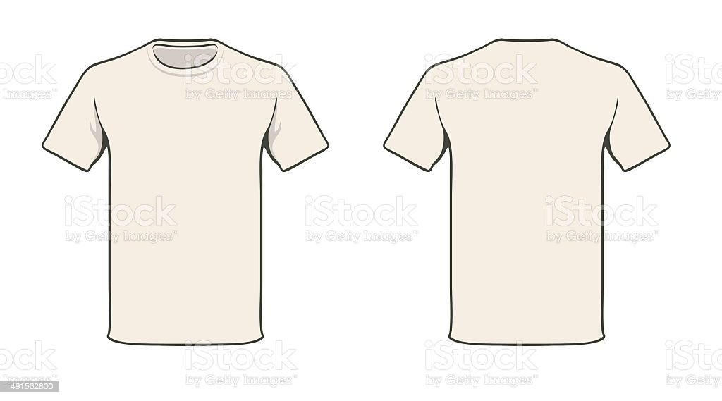 Tshirt Template Stock Vector Art More Images Of 2015 491562800