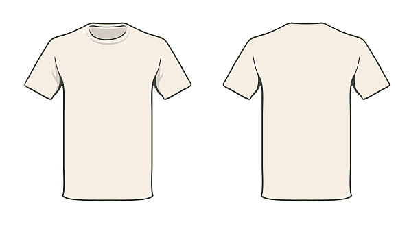 t-shirt template - business casual fashion stock illustrations