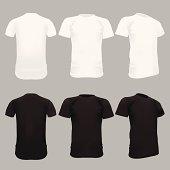 White T-Shirt Template - Vector Illustration