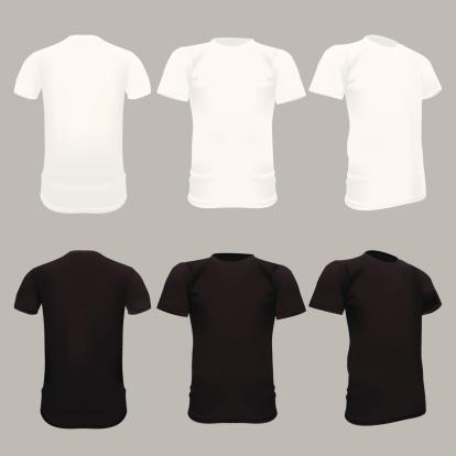 T-Shirt Template - Vector Illustration