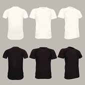White T-Shirt Template - Vector Illustration