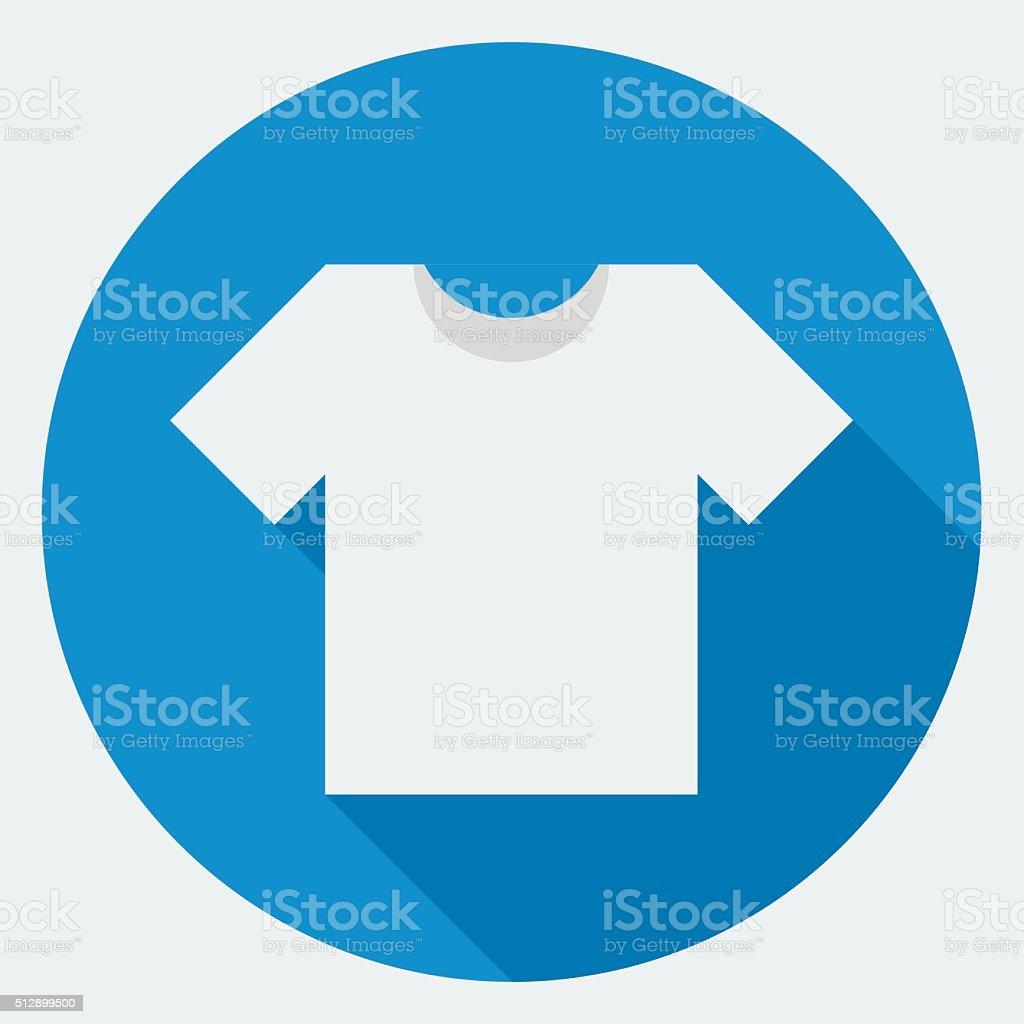 T-shirt vector icon vector art illustration