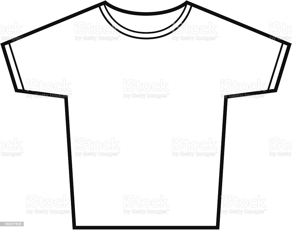 tshirt vector outline stock vector art more images of casual rh istockphoto com t shirt outline vector free t shirt layout vector