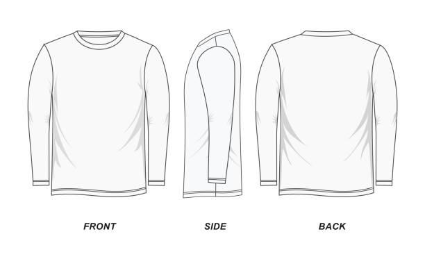 t-셔츠 화이트 빈 - 셔츠 stock illustrations