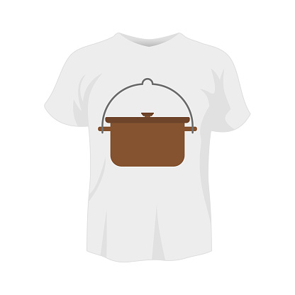 T-shirt white color mockup isolated from background with crock colored