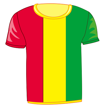 T-shirt with flag Guinea