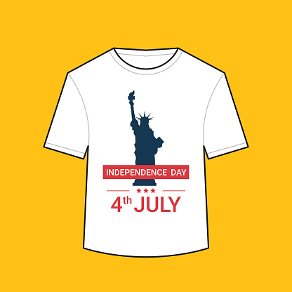 t-shirt with liberty statue american independence day shirts celebration 4th of july concept