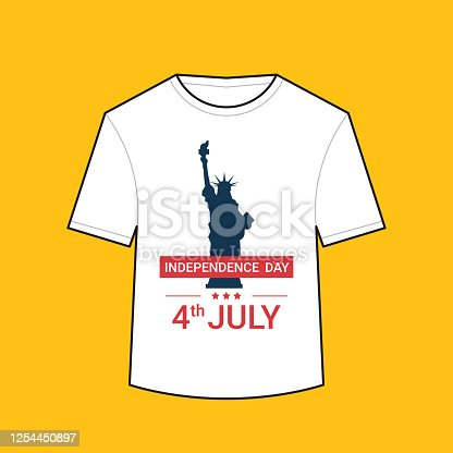 istock t-shirt with liberty statue american independence day shirts celebration 4th of july concept 1254450897